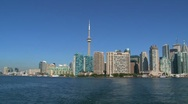Ferry leaving Toronto, Canada Stock Footage