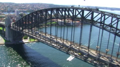 Sydney Harbour Bridge Aerial Shot 2 - stock footage