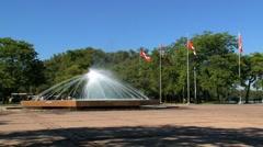 Fountain toronto island, Toronto, Canada Stock Footage