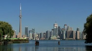 Stock Video Footage of Skyline Toronto, Canada
