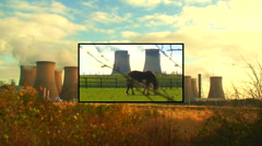 Coal fired power plant montage 1 Stock Footage