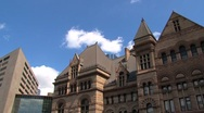 Stock Video Footage of City hall downtown Toronto, Canada time lapse