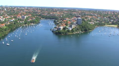 Sydney Green Harbour Aerial Stock Footage