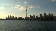 Stock Video Footage of Skyline evening Toronto, Canada