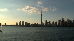 Skyline and CN Tower, Toronto, Canada Stock Footage