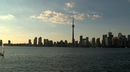 Stock Video Footage of Skyline and CN Tower, Toronto, Canada