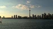 Skyline and CN Tower, Toronto, Canada Stock Footage