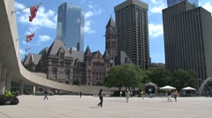 City hall, Toronto, Canada Stock Footage