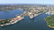 Sydney Harbour Northside Aerial Shot Stock Footage