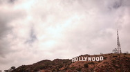 Hollywood Sign timelapse cloudy Stock Footage