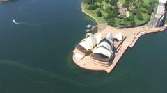 Sydney Opera House Aerial Stock Footage