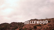 Hollywood Sign timelapse cloudy 2 Stock Footage