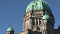 British Columbia Parliament Buildings, Canada Stock Footage