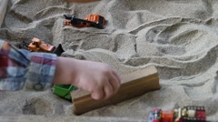 Sandbox ,childs play Stock Footage