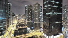Chicago downtown - stock footage