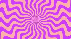 Zigzag Purple Sunburst, Loop - stock footage