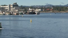Stock Video Footage of Water taxi in harbor Victoria, British Columbia, Canada