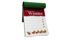 Christmas whishlist with alpha channel Stock Footage