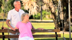 Senior Couple Enjoying Each Other's Company - stock footage