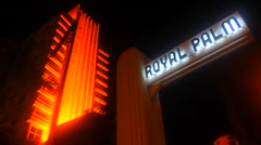 Royal Palm Hotel at Night Stock Footage