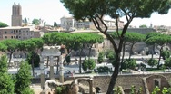 Stock Video Footage of view on ancient villa district called Domus area in Rome