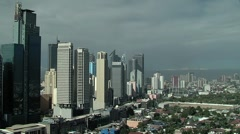 Manila Philippines Skyline Stock Footage