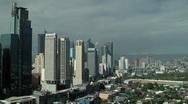 Manila Philippines Skyline Stock Footage