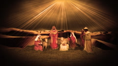 Christmas Manger with Baby Jesus - stock footage