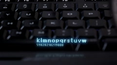 Keyboard with search and globe projection - stock footage