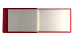 BOOK MODERN BLANK with alpha - stock footage