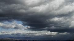 Warner Center Big sky clouds motion timelapse Stock Footage