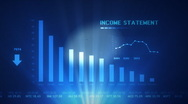 Stock Video Footage of INCOME STATEMENT PROJECTION