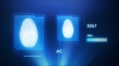 FINGERPRINT SCAN PROJECTION Stock Footage