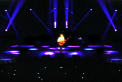 Guitar Soloist on Stage Stock Footage