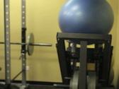 Female Portrait in Gym 2 Stock Footage