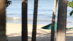 Waves on the beach - stock footage