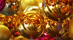 Christmas decorations mirror 002 Stock Footage