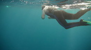 Stock Video Footage of Diver swim P1