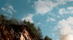 Clouds above the precipice. Stock Footage