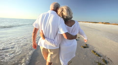 Seniors Romantic Beach Dancing - stock footage