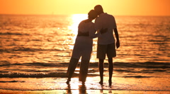 Seniors Romantic Sunset Evening Stock Footage