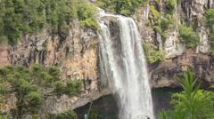 Beautiful Brazilian waterfall mid shot Stock Footage