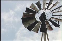 Aeromotor-style windmill  - stock footage