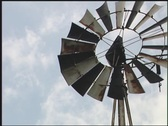 Stock Video Footage of Aeromotor-style windmill