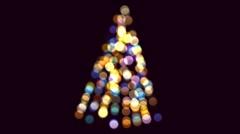 Christmas tree. - stock footage