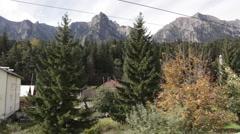 View to Bucegi Mountains Stock Footage