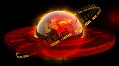 Hot World News - News Earth 47 (HD) Stock Footage