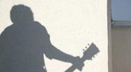 Shadow guitarist Stock Footage