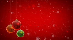 Christmas decoration background with Christmas balls Stock Footage