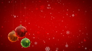 Stock Video Footage of Christmas decoration background with Christmas balls